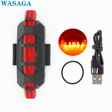 цена на Rechargeable Bike Tail Light LED Safety Warning Lamp Bicycle Front Rear Light Night Riding Bicycle Lamp Flash Light Accessories