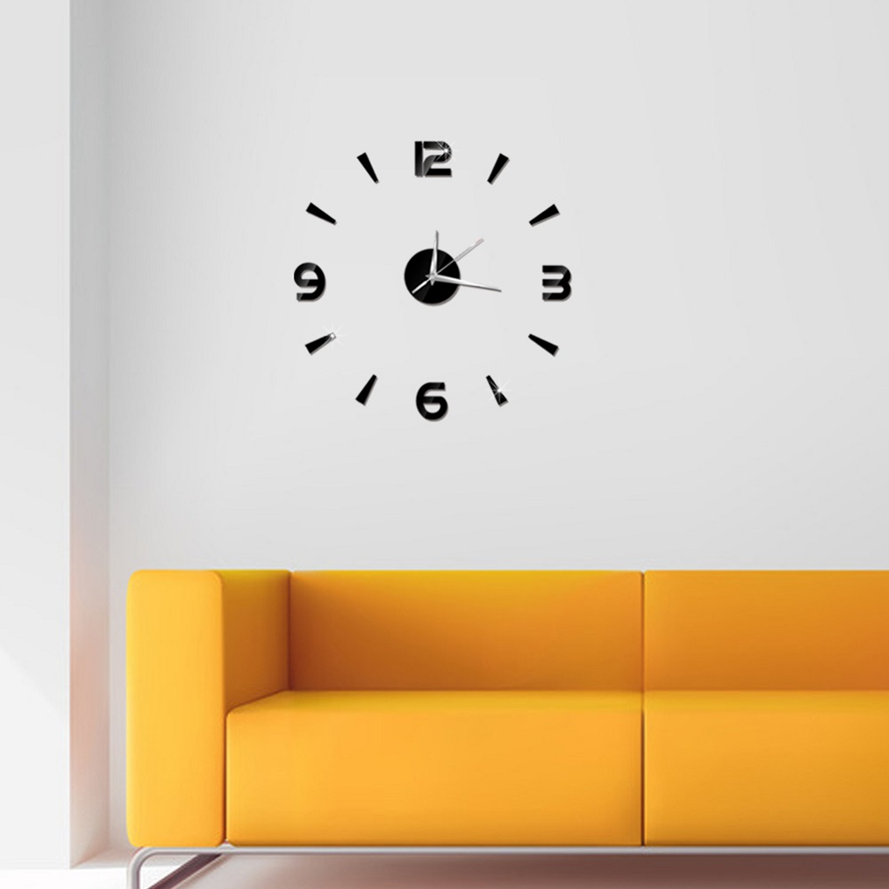 2019 New 3D Wall Clock Mirror Wall Stickers Fashion Living Room Quartz Watch DIY Home Decoration Clocks Sticker reloj de pared 12
