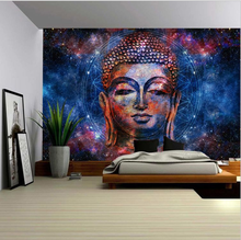 Buddha Religion Tapestry Wall Hanging Psychedelic Home Wall Blanket Decorations(China)