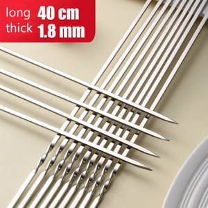 Skewers Barbecue-Sign Iron Lamb Roasting-Needle Meat-Brazier 304-Stainless-Steel Bbq Utensils