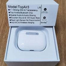 Topaair3 tws sem fio bluetooth 5.2 fones de ouvido 45db híbrido anc qualidade super bass 1562m pk h1 1562h i90000 max i99999 tws