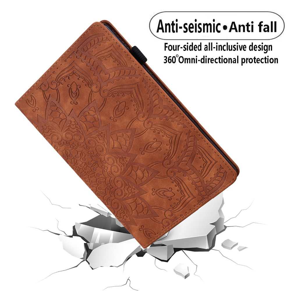 2020 Pro Folding Case Embossed Generation iPad For Flower 4th Leather Cover 3D 12.9