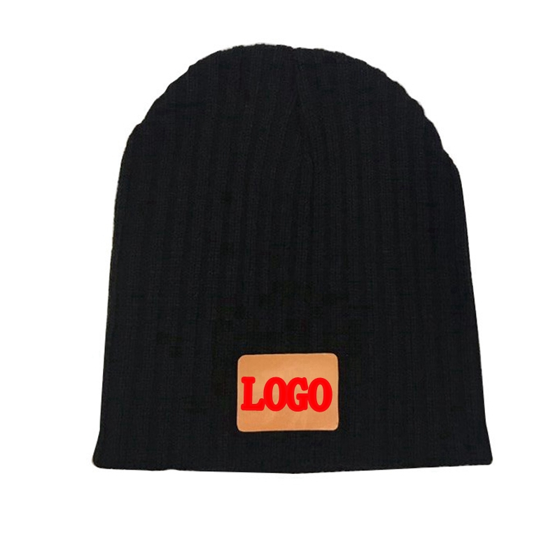 MYZOPER 2019 New Customize LOGO Letter Solid Color Knitted Hat Hip Hop Stripe Unisex Autumn Winter   Beanie   Adult Cap
