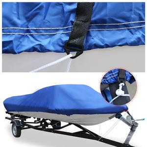 Image 2 - X AUTOHAUX 540/570/700 x 280/300CM 210D Trailerable Boat Cover Waterproof Fishing Ski Bass Speedboat V Shape Blue Boat Cover