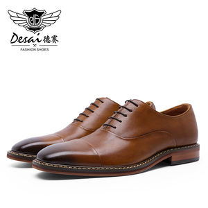 Image 4 - DESAI Brand Italian Handmade Design Vintage Mens Casual Oxford Shoes Formal Luxury Party Wedding Real Genuine Leather Shoes Men