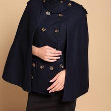 Genuo Новинка зимнее женское пальто женская накидка с завёрнутым воротником плащ парка пуловер пончо верхняя одежда Casaco