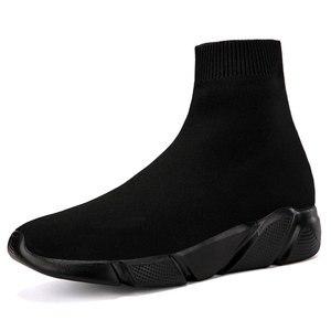 Image 3 - をmwy新ストレッチ靴下靴女性フラット通気性スニーカーの靴高トップ女性カジュアルシューズzapatos mujer schoenen