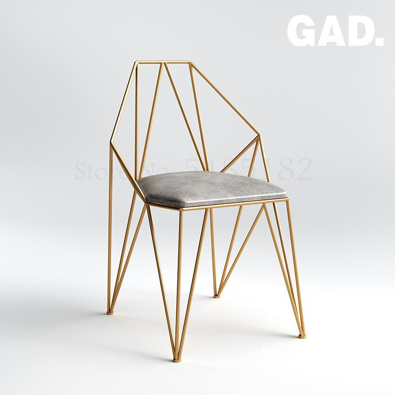 Black gold nordic modern minimalist home ins net red back chair dining chair desk chair