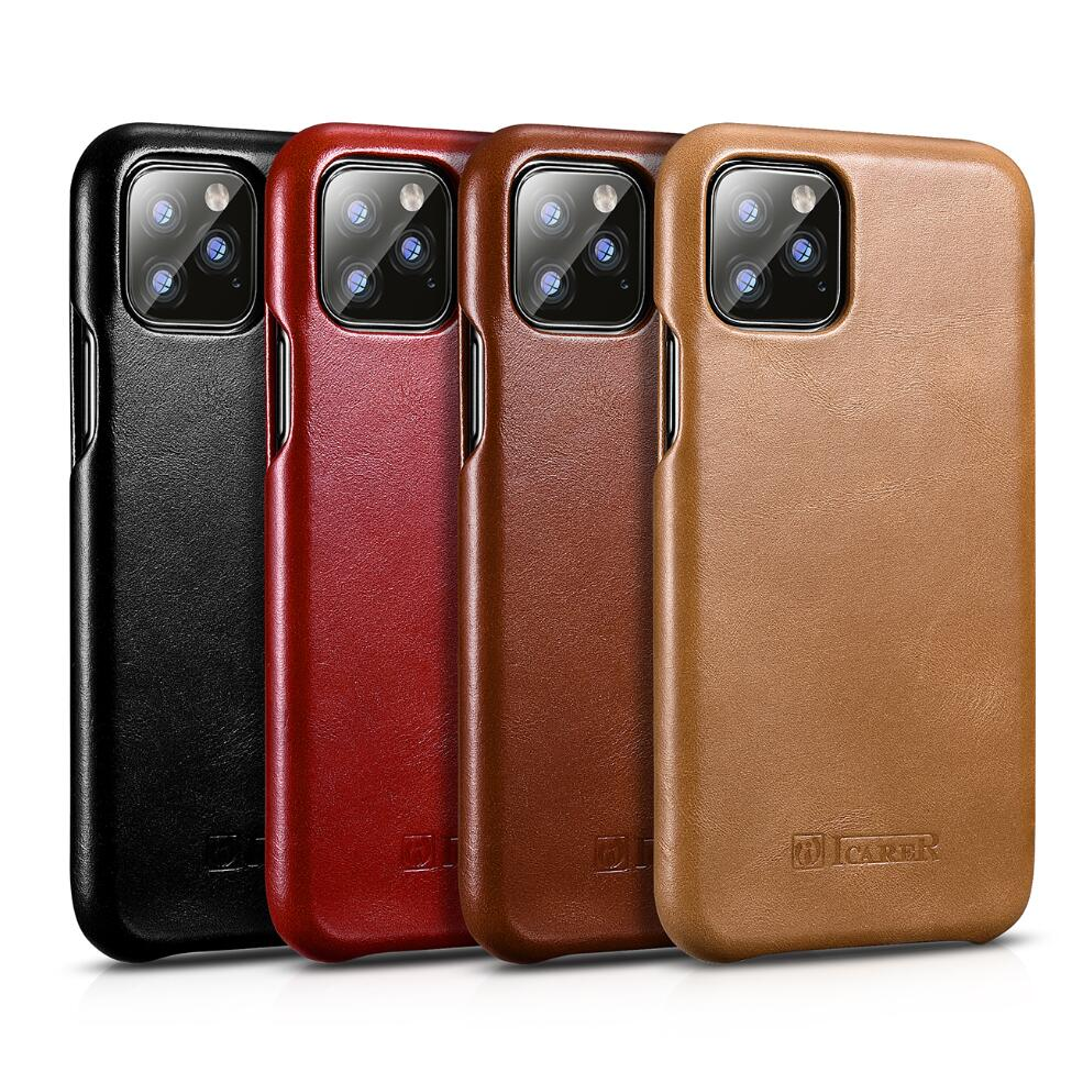 Icarer Luxury Genuine Flip Leather Cover For Iphone 11 Pro Max 5.8 6.1 6.5 2019 XS XR Real Leather Case