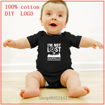 I'm Not Lost I'm Geocaching Cotton Newborn Baby Girl Clothes Bodysuit Baby Clothes new born baby boy clothes 3 to 6 months image