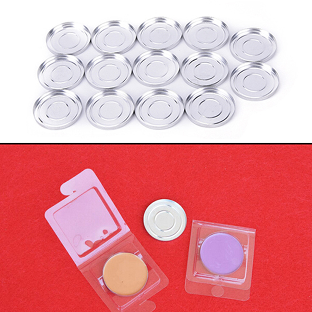 10 PCS 36.5mm DIY Makeup Cosmetic Empty Aluminum Cases Pans For Eyeshadow Eye Shadow Container Pans Palette Case Makeup Tool