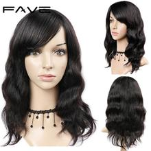 FAVE100% Brazilian Remy Human Hair Wig Natural Wave Wigs with Bangs парики женские #1B/99J/#4 Color For Black Women Fast Ship