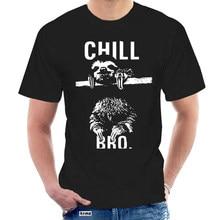 Cooles Nerd Herren T Shirt Mit Chill Bro. Faultier - M Nner Spruche Hemd Weiß T-shirt Herren Sommer @ 047311