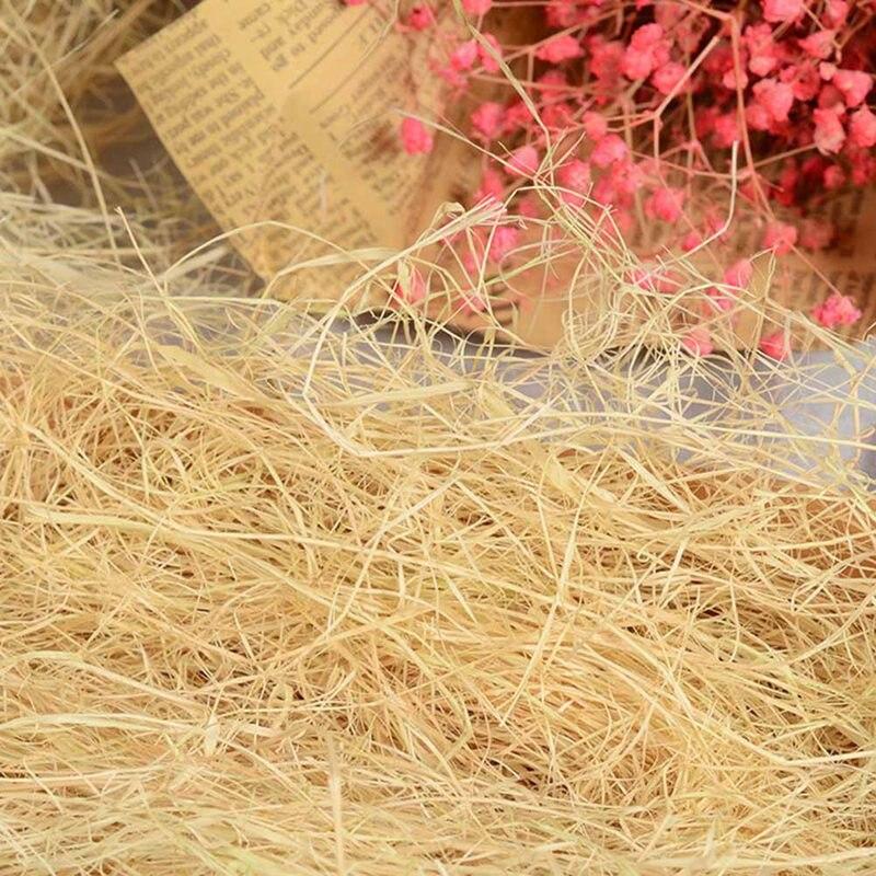 30 г льняные рафии конфетти, измельченная трава, сделай сам, Подарочная коробка, наполнитель для упаковки подарков на свадьбу, день рождения