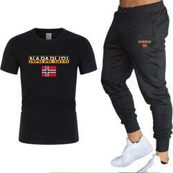 2020 Mannen T-shirt En Broek Sets Tweedelige Sets Southern Snake Print Casual Trainingspak Sport Past Fitness Broek