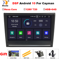 8'' Android 10 PX6 DSP Car Stereo Player GPS for Porsche 911 997 Cayman 987 2005 2006 2007 2008 Boxster 987 2005 2012 NO DVD