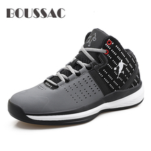 BOUSSAC 2019 New Basketball Shoes For Men Non-slip Basket Homme Sport Shoes Male Zapatillas Baloncesto boussac basketball shoes for men 2018 new high top sport comfort air cushion sneakers trainers basket homme zapatillas red