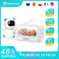 Heimvision HM136 Baby Sleep Monitor Met Camera 720P Video 5 Inch Lcd-scherm Nanny Beveiliging Nachtzicht Temperatuur Camera