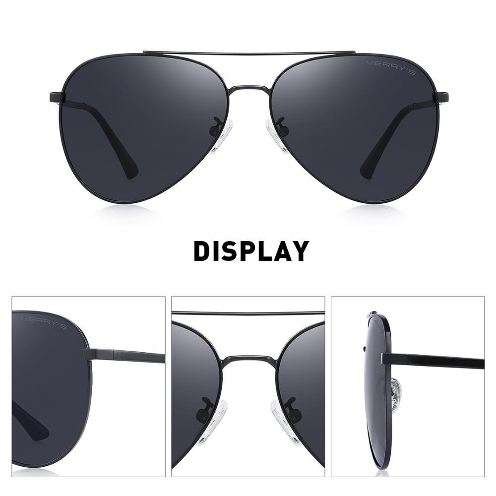 MERRYS DESIGN Men Classic Pilot Sunglasses HD Polarized Sun glasses Driving Fishing Eyewear For Men Women UV400 Protection S8134 2