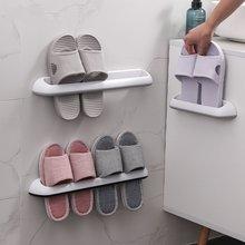 Ванная комната Тапочки стойки настенный пластиковый стеллаж