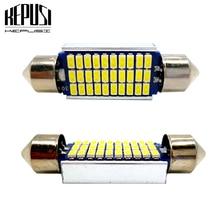 цена на 2x C5W C10W Dome Canbus Led 31/36/39/42mm festoon led Interior light Reading Luggage License Plate Lamp Festoon Bulb White 12V