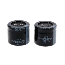 цена на 2 Pcs 10000uF 50V Capacitance Snap-in Aluminum Electrolytic Radial Capacitor Capacitors Black Color