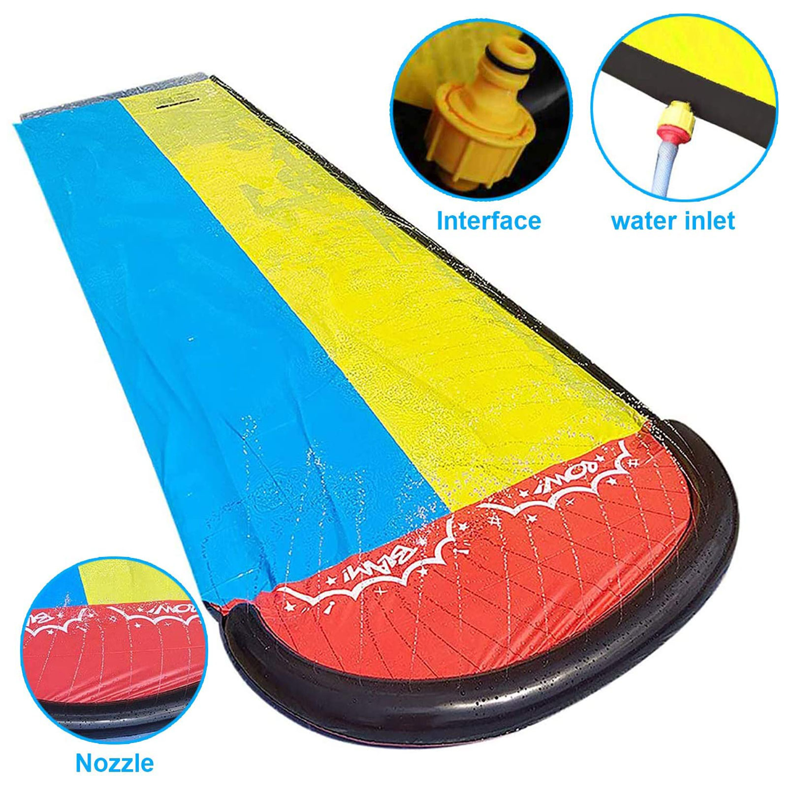 Inflatable Lawn Water Slide Pools Sprinkler Summer Swimming Pool PVC Outdoor Backyard Lawn Water Games Toys For Children