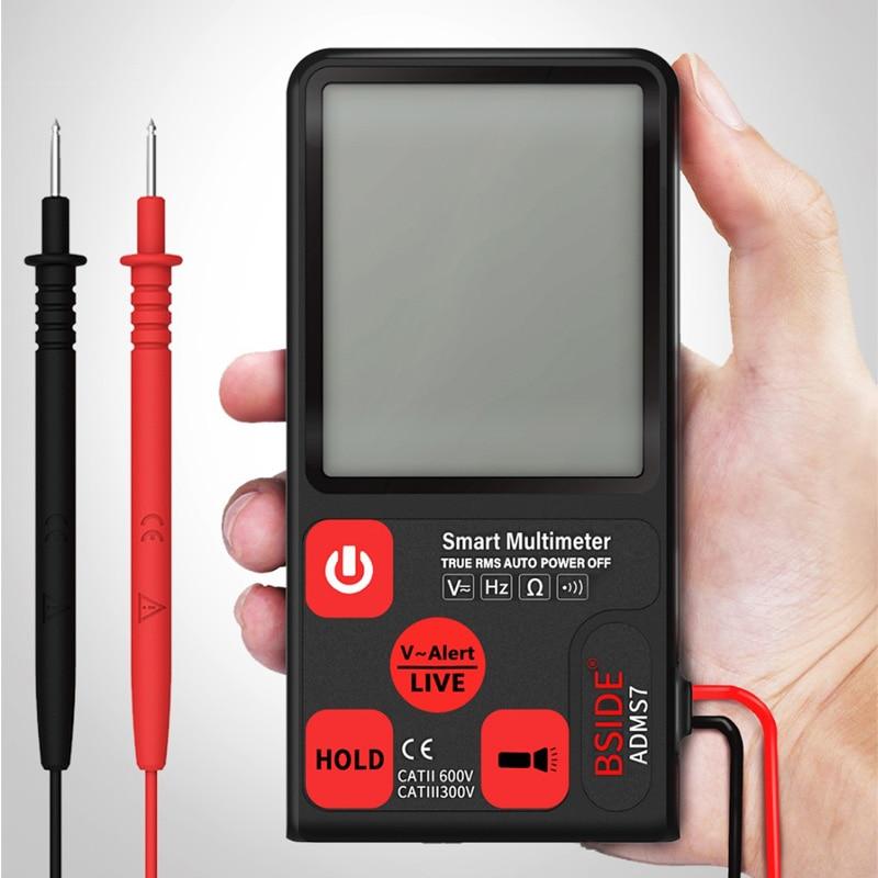 BSIDE Цифровой мультиметр ультра портативный ЖК дисплей DC AC вольтметр Аналоговый тестер DIY измеритель емкости NCV Ом Гц Тестер|Мультиметры|   | АлиЭкспресс