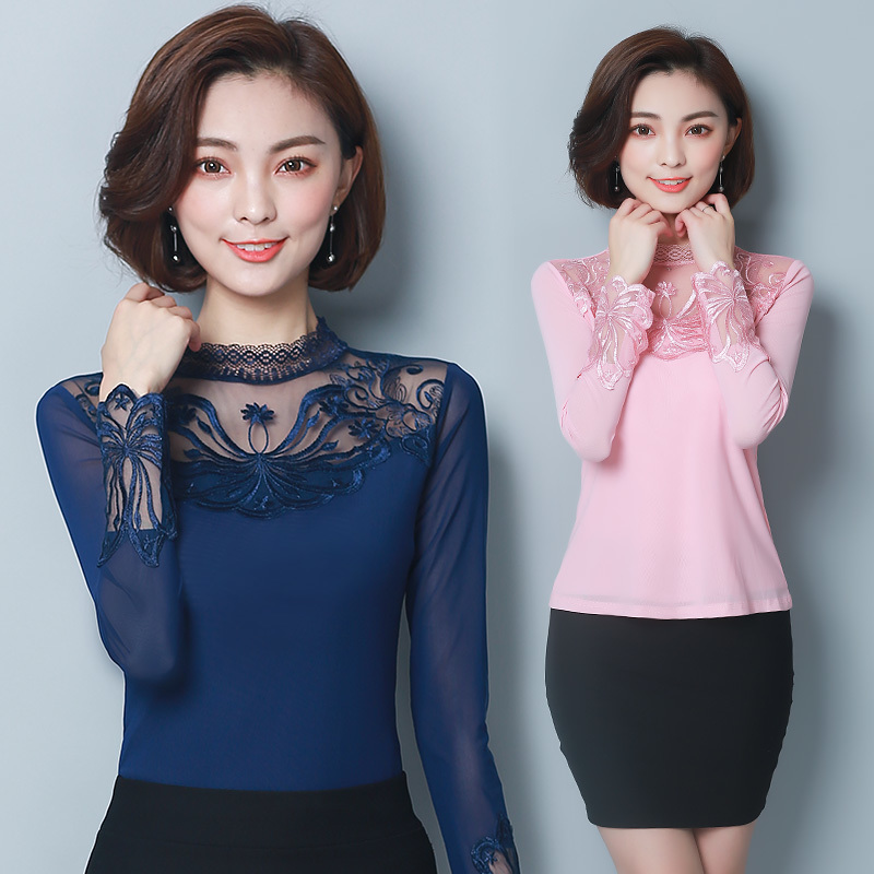 Women Lace Tops 2020 New Blouse Ladies Office Shirt Spring Summer Casual Plus Size Women's Clothing Hollow Out Camisa Feminina