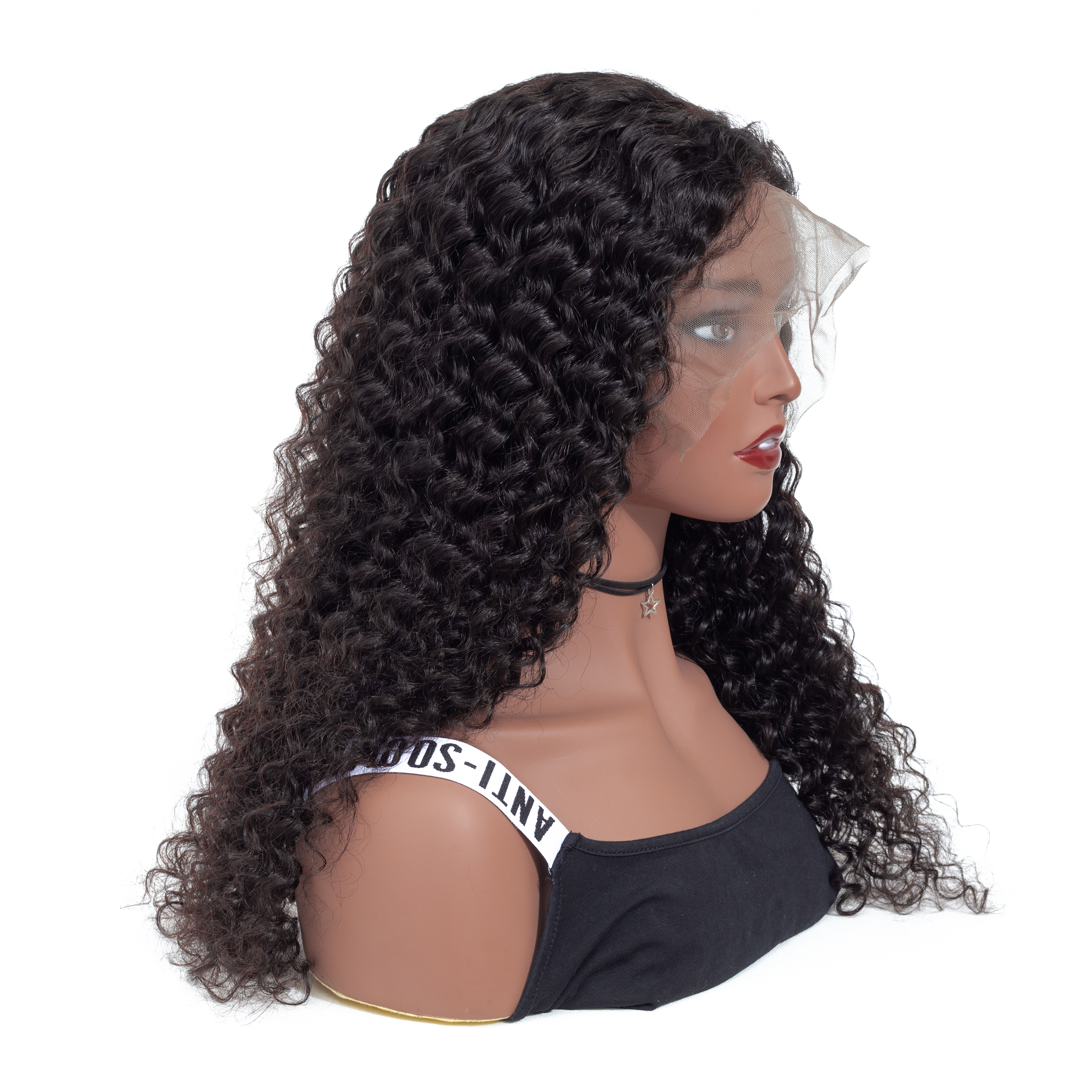 VSHOW 13x4 Brazilian Deep Wave Lace Front Wig With Baby Hair Natural Black 150 180 Density 13x6 Remy Human Hair Wigs in Human Hair Lace Wigs from Hair Extensions Wigs