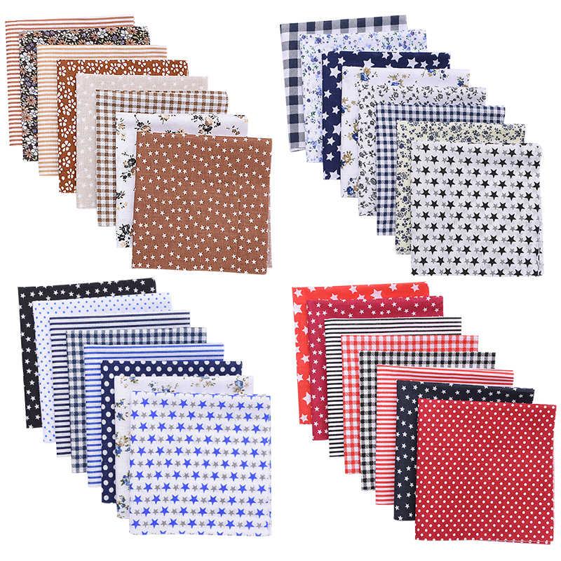 8 개/대 25*25cm 패치 워크 패브릭 스퀘어 패브릭 코 튼 인쇄 천으로 DIY 바느질 손수 액세서리에 대 한 퀼트 직물 바느질