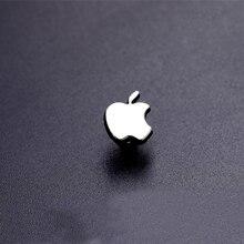 Модные аксессуары, маленькая булавка на воротник с логотипом Apple, модная универсальная брошь на одежду