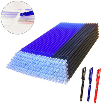 20 Pcs/set Magic Erasable Pen Refills Rod 0.5mm Office Gel Pen Washable Handle Blue Black Red Ink Pen School Writing Stationery kawaii small fresh style erasable gel pen refills is blue ink and black ink a magical writing neutral pen