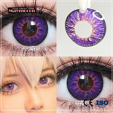 Maymocon 1 Pair Beautiful Pupil Eye Cosmetic Colorful Contact Lenses Halloween Cosplay Lenses Crazy Lens for Eyes