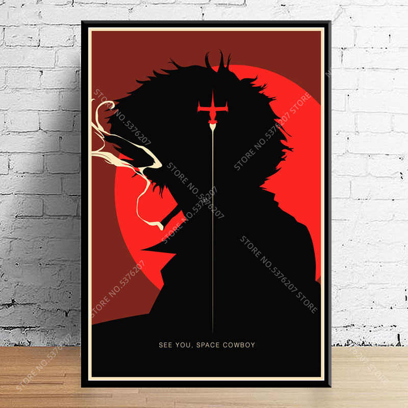 G659 Art Decor Cowboy Bebop Hot Japan Anime Classic Wall Art Canvas Schilderij Zijde Poster Thuis Decoratie