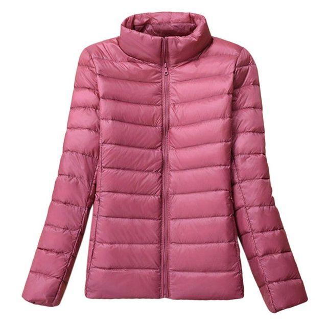 US $19.06 22% OFF Women's Uniqlo Style Duck Down Lightweight Jacket Winter Outerwear Coat Puffer 2019 New Fashion on AliExpress