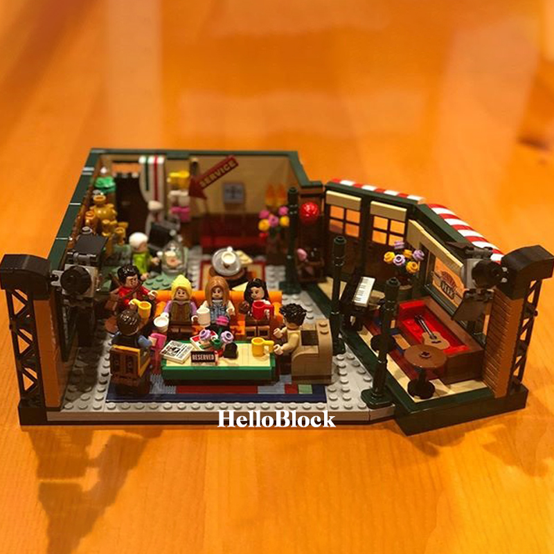 In Stock 11448 Friends Classic TV American Drama Friends Central Perk Cafe Fit Model Building Block Bricks compaible <font><b>21319</b></font> Gift image