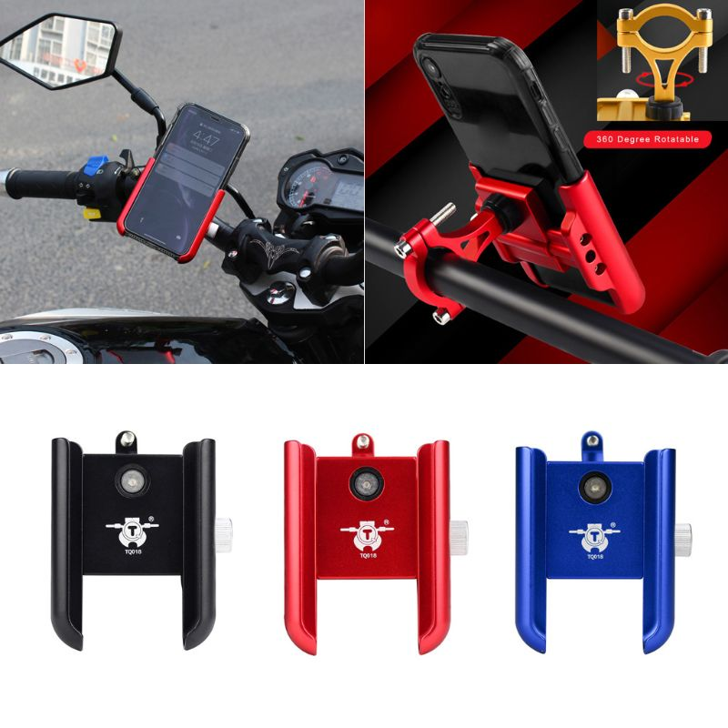 Universal 360 Rotatable Aluminum Motorcycle Handlebar Bike Bicycle Cell Phone Holder Mount For Samsung Huawei 4-7inch Smart Mobi