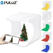 "Puluz 8 ""2LED paneles plegable portátil foto video iluminación caja Studio shooting Tent caja kit emart difusa Studio softbox luz"