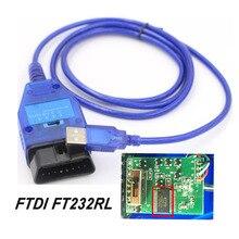 FTDI FT232RL FT232RQ Chip Auto samochód kabel diagnostyczny Obd2 dla VAG USB dla Fiat VAG interfejs USB samochód Ecu skaner 4 Way przełącznik