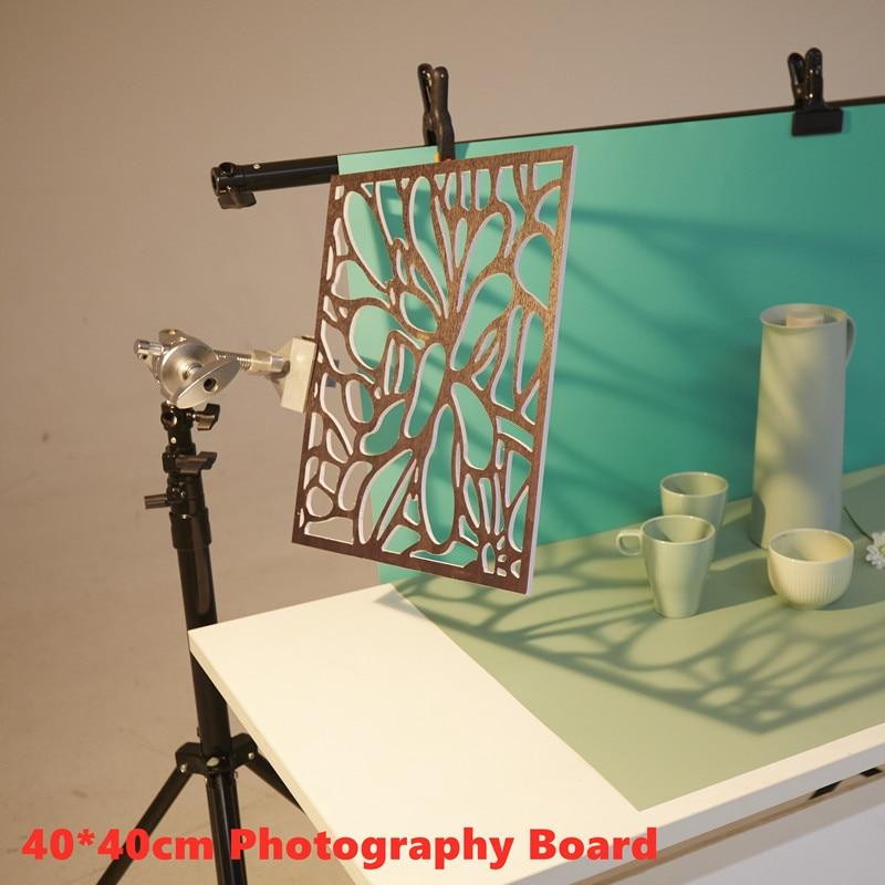 40*40cm placa de fundo de madeira grão adereços iluminação pastel background fontes festa retro fotográfico para photo studio acc