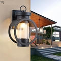 American Retro Glass Vintage Wall Lamp Led Industrial Modern Waterproof Garden Outdoor Wall Lamp Villa Hotel Balcony Stairs|LED Indoor Wall Lamps| |  -