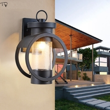 American Retro Glass Vintage Wall Lamp Led Industrial Modern Waterproof Garden Outdoor Wall Lamp Villa Hotel Balcony Stairs european retro outdoor wall lamp villa balcony garden lamp retro wall lamp outdoor retro lamps