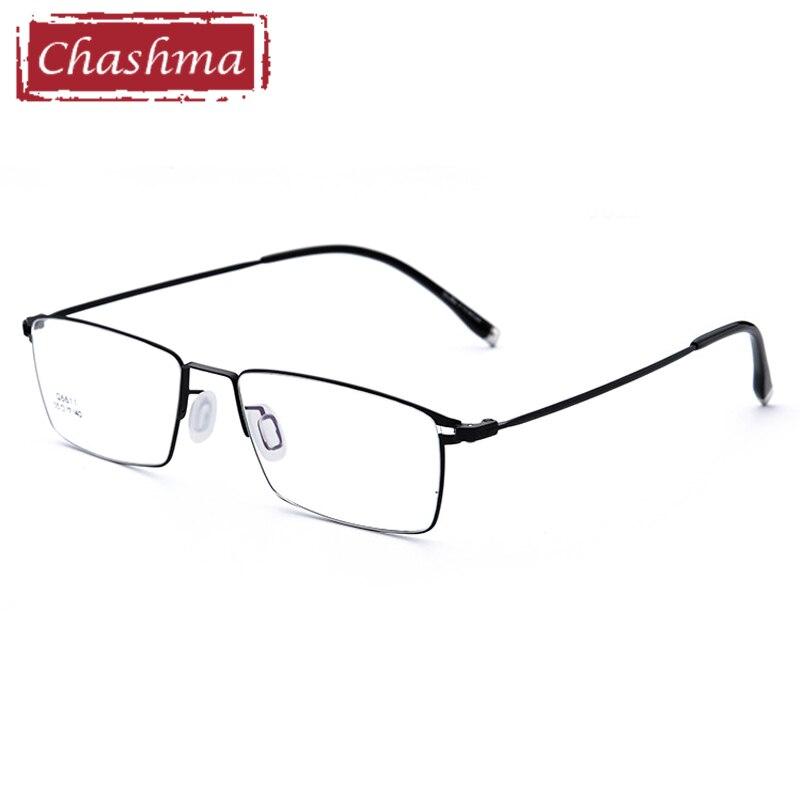 Chashma Brand Titanium Alloy Eyeglasses Ultra Light Optical Eye Glasses Frames Men Glasses Clear Lenses Fashion Quality Frame
