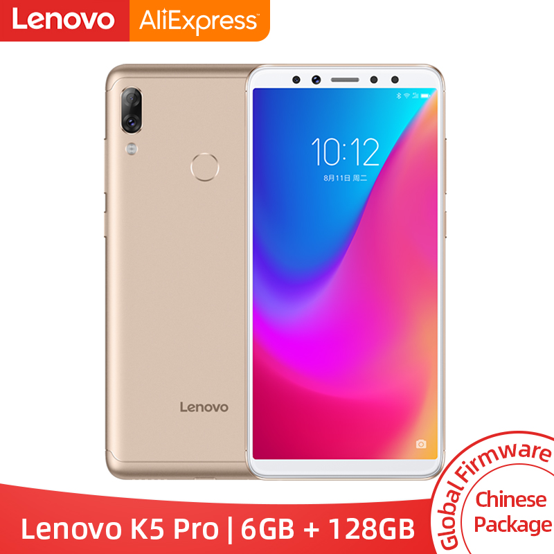 Global ROM Lenovo K5 Pro 6GB 128GB Snapdragon 636 Octa Core Smartphone Four Cameras 5.99 Inch 4G LTE Phones