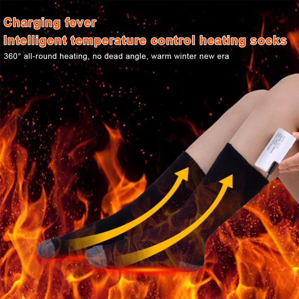 3.7V 2200MAH Lithium Battery Upgrade Heating Socks Rechargeable Adjustable Battery Electric Heating Socks Double Layer Warm Sock