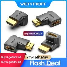 Vention HDMI адаптер 90 270 градусов правый угол конвертер «Папа-мама» 4K HD разъем для HD TV PS4 Lptop TV Box HDMI удлинитель