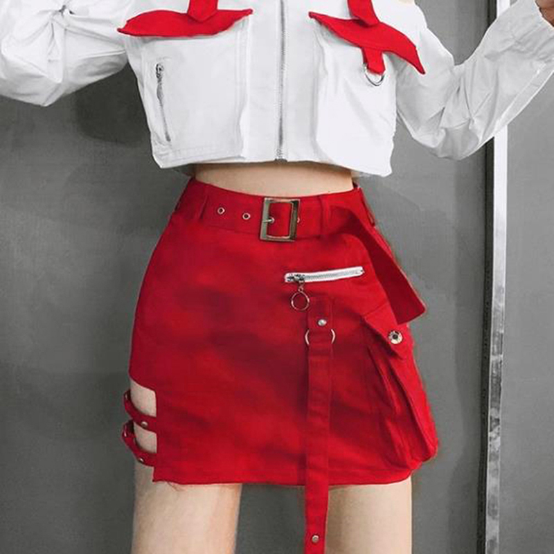 Летняя женская юбка с высокой талией, женская элегантная юбка, модная юбка с дырками, мини Однотонная юбка
