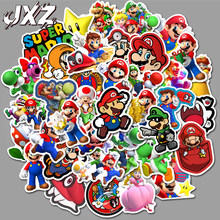 50Pcs/pack Classic Game Super Mario Cartoon Stickers Luggage Laptop Bicycle Motorcycle Notebook Waterproof Toys