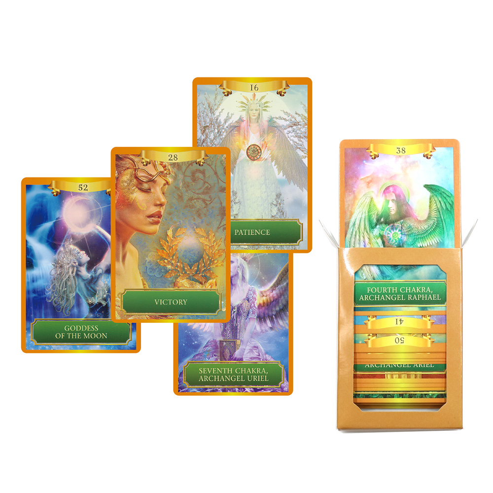 2019 Energy Oracle Cards Deck 53 Cards, Tarot Cards Guidance -divination Fortune English Board Game Card Games